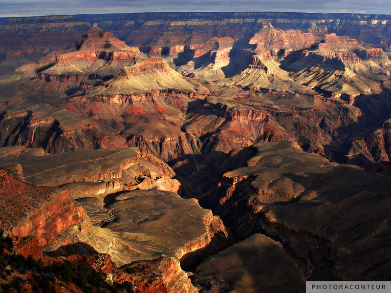 """Grand Canyon Vista No. 11"" ~ Sunset view of the Grand Canyon from the South Rim Trail."