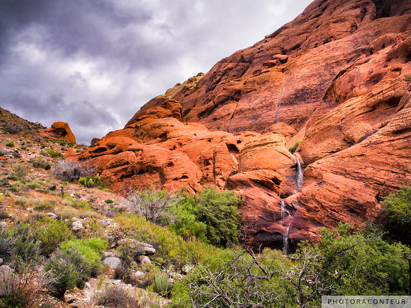 Calico Hills Waterfall