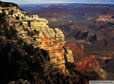 """Grand Canyon Vista No. 7"" ~ Sunset view of the Grand Canyon from the South Rim Trail."