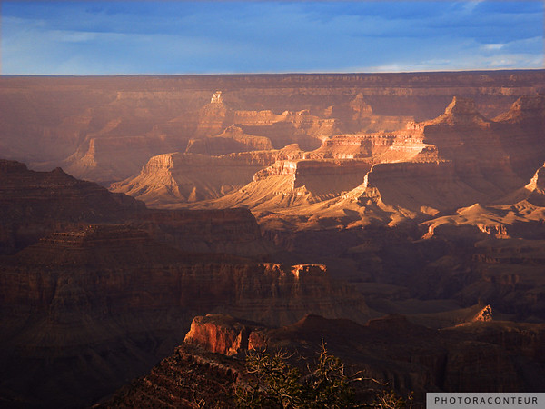 """Grand Canyon Vista No. 8"" ~ Sunset view of the Grand Canyon from the South Rim Trail."