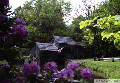 """Mabry MIll, Virginia"" ~ Colorful composition of the historic Mabry Mill in Virginia along the Blue Ridge Parkway."