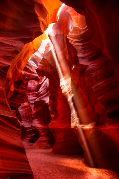 Slot Canyon Sunbeam<br /> Upper Antelope Canyon near Page, Arizona
