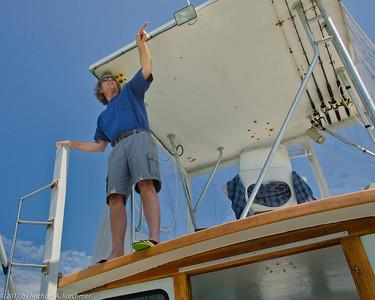 Charter Captain Steve Ellis, Cape Cod Bay, June 2011 [Michael A. Karchmer]