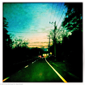 Darkness falls on US 6, Eastham, MA (2012) [MIchael A. Karchmer]