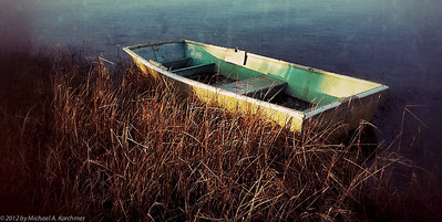 Boat by the Marshes, Chatham, 2012 (iPhone 4 processed by Snapseed) [Michael A. Karchmer]