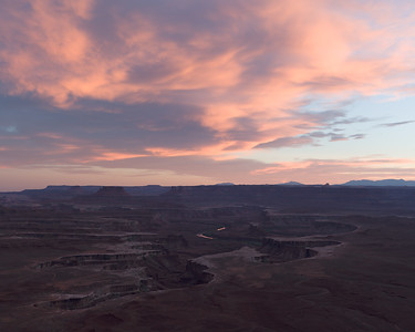 Green River Overlook at sunset. Canyonlands National Park, Utah.