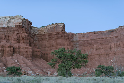 After sunset, near Chimney Rock. Capitol Reef National Park, Utah.