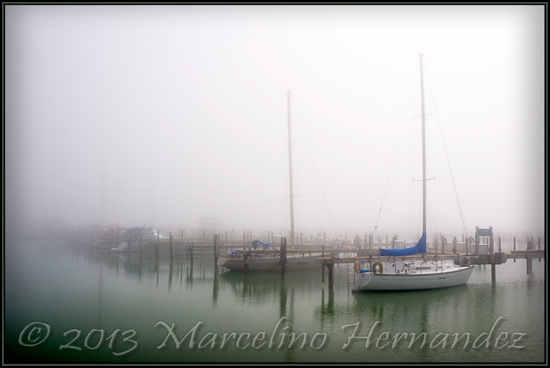 Fog, Lake, Boats...whats not to like!
