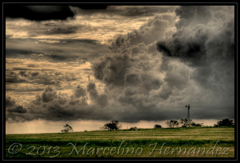 NOT in Kansas n e more<br /> 2010 Hurricane Alex just rolled through Texas and I stopped to grab this shot. <br /> HDR (High Dynamic Range) image