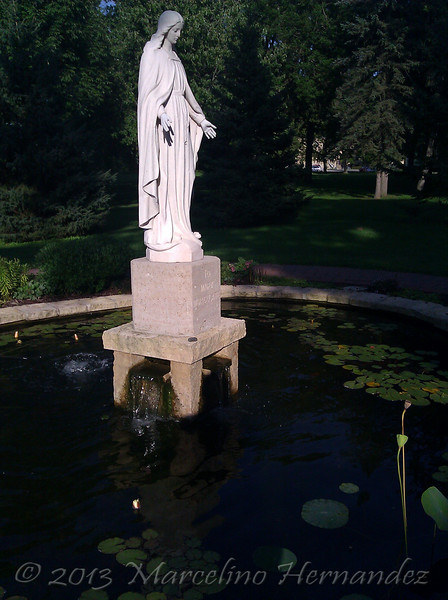 I had to take a couple with my cell camera. Not bad for showing the beauty around St Mary's University, Winona Mn.