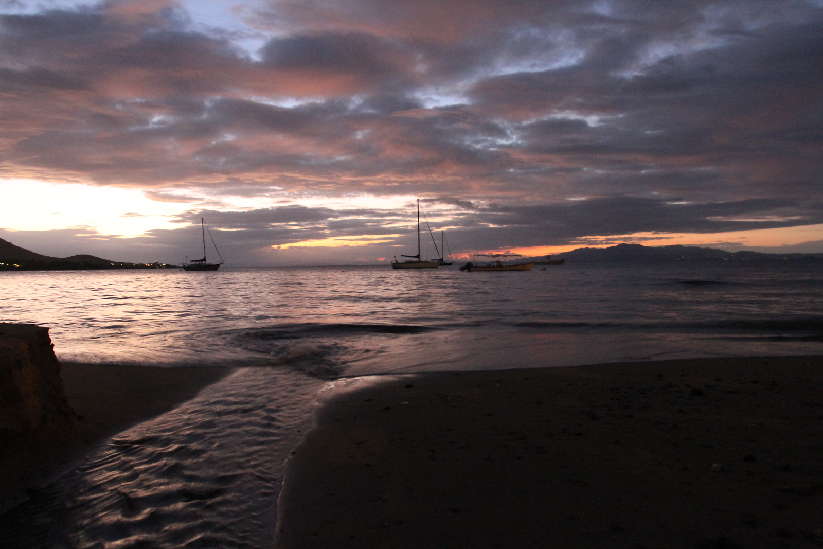 Water inlet to the Atlantic side of Vieques at sunset