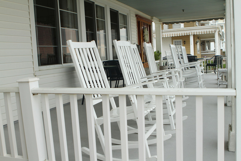 Remember when folks sat on front porches rocking and watched the world go by ?