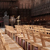 The Cathedral was preparing for an event in the afternoon, so lots of chairs.