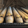 Organ pipes at Carlisle Cathedral.