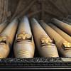 Organ pipes at Carlisle Cathedral.
