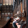 There I am trying to blend in with the seats in Carlisle Cathedral