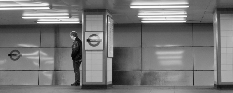The loneliness of the tube station at midnight