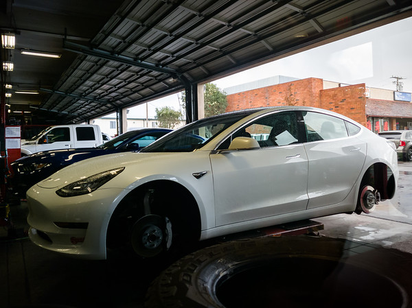 NOVEMBER - Valerie wants me to drive her Model 3 work...so I can stop at America's Tires and get her car's tires rotated