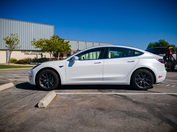 Though it seems kind of ridiculous, I drove here in Valerie's Model 3...so even my warm up and cool down were on the track (and at a pace that is faster than most of my miles).  I drove because I have a busy schedule today.