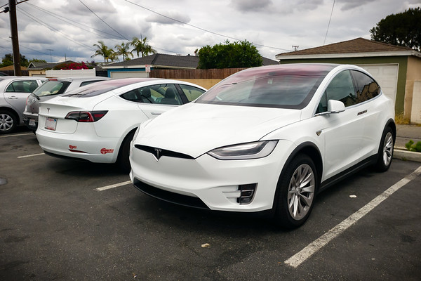 Valerie and I do the California thing...we each drive our own Teslas to exEat in Gardena