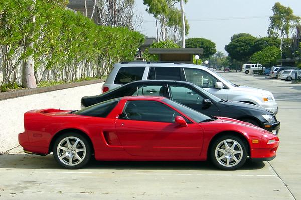 Acura NSX, Lexus IS300, Honda Pilot (side)