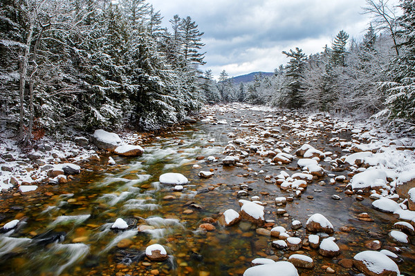 East Branch Pemigewasset River First Snow