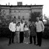 Tao, Theodore, Francesco, Melusine and Bartolomeo Ruspoli: The five children of Dado with Santino the gardener at Castello Ruspoli 2008