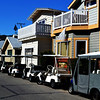 Victorian Houses and Golf Carts in Avalon on Catalina Island
