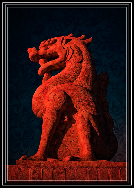Watchful Red Dragon