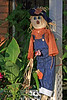 Scarecrow<br /> <br /> Neighbor at the end of the street has him decorating her porch.<br /> Resembles Raggedy Andy don't you think?