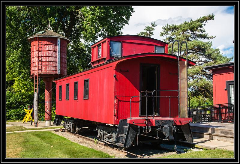 Burlington, and Quincy Railroad Caboose #14662