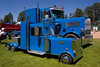 Peterbilt-Truck Pair-Show Low Car Show<br /> <br /> Not unusual to see a Big Rig, but this one has a little sibling...