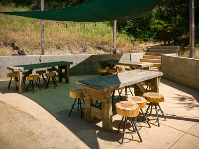 Cat Haven has a couple of outdoor dining areas for group bookings