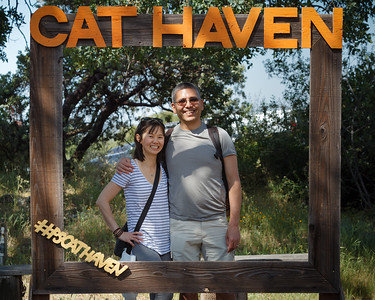 Valerie and I pose in the frame (Photo by Mom) #PSCatHaven