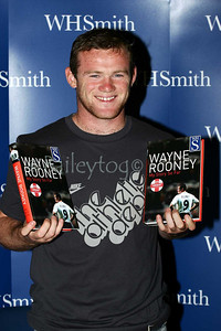 "Wayne Rooney signs copies of his first  book ""My Story So Far"" at WH Smiths in the Trafford Centre, Manchester 30 August 2006"