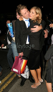Phil Tufnell and wife leave the aftershow party for The Match held at Shearers Bar in Newcastle 09 October 2005