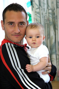 Will Mellor during a visit by the Celebrity Team to the Royal Victoria Infirmary in Newcastle 07 October 2005