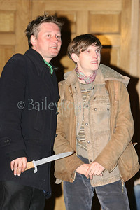 "Jamie Bell and Director David McKenzie on The set of the film ""HALLAM FOE"" shot at the Scottish Steps at the Scotsman Hotel, Edinburgh 28 April 2006"