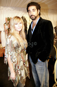 Former Eastenders Ray Panthaki and Brooke Kinsella at the Linden Hall Bigge Weekend, 20th August 2006