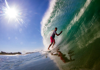 Surfing  at Playa Negra,Costa Rica   Date: Mar 06, 2014 Time: 10:07.PM Model: Canon EOS 7D Lens: EF8-15mm f/4L FISHEYE USM