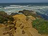 Tomales Point.  Bodega Head, horizon, center.<br /> Point Reyes National Seashore, Marin Co., CA 2012/04/27