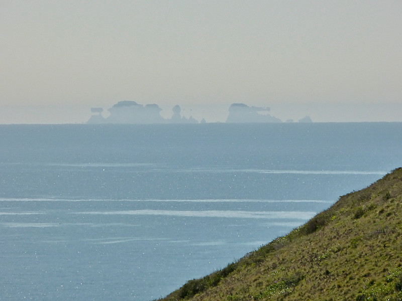 Southeast Farallon Islands with Mirage<br /> Fire Lane Trail, Point Reyes National Seashore, Marin Co., CA