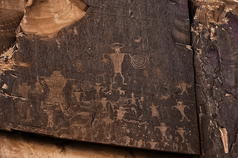 Petroglyphs in Colorado National Monumnent.<br /> © Cindy Clark