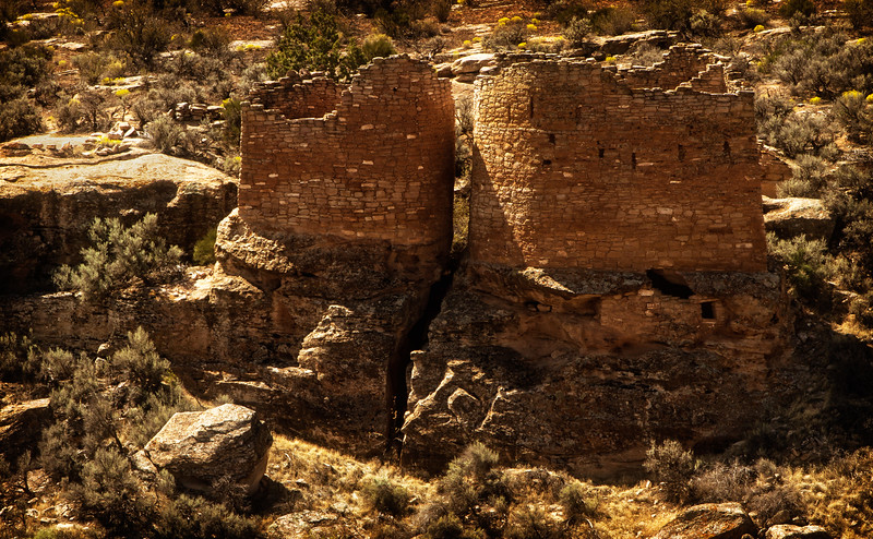 Hovenweep Twin Towers<br /> Photo © Cindy Clark