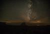 Fajada Butte against a celestial backdrop.<br /> Photo © Carl Clark