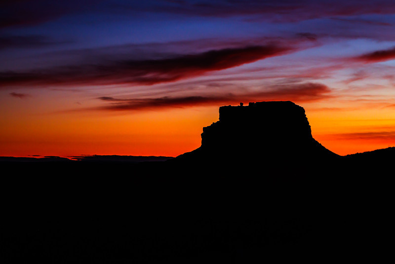 Chaco Fajada Butte Sunset<br /> Photo © Cindy Clark