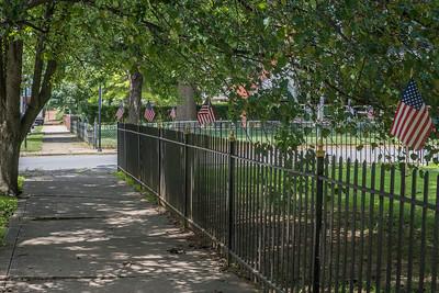 Iron fence on Samuel Street.