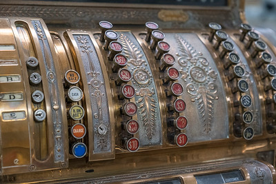 Old cash register - Jefferson County Museum