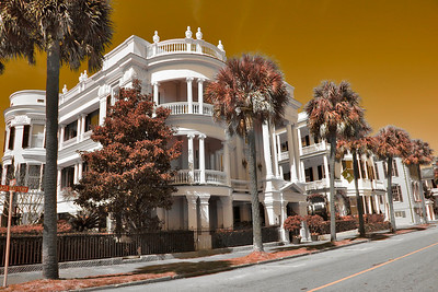 Charleston Architecture in sepia tones