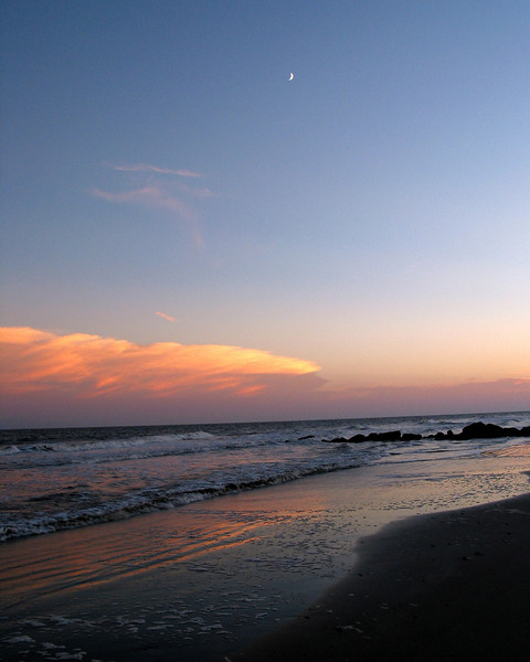 Moonrise on Folly Beach